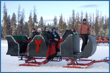 Enjoy a group sleigh ride in the winter sun in Winter Park, CO